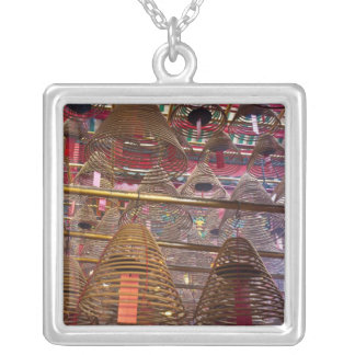 Man Mo Buddhist Temple of Hong Kong Square Pendant Necklace