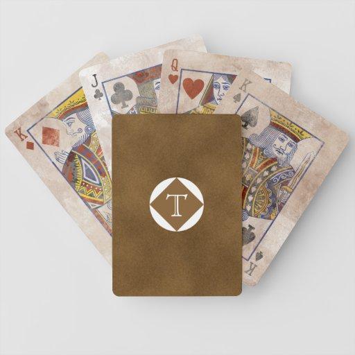 Man Monogram Playing Cards
