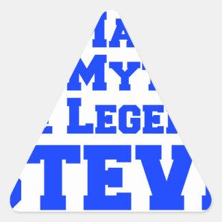 man-myth-legend-steve-fresh-blue.png pegatina triangular