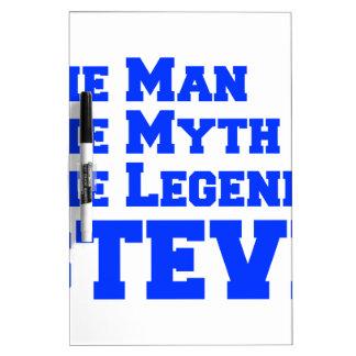 man-myth-legend-steve-fresh-blue png pizarras blancas de calidad
