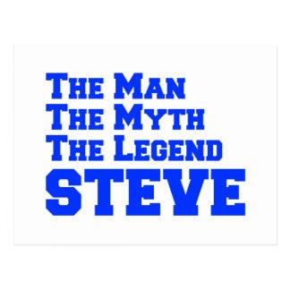 man-myth-legend-steve-fresh-blue.png postcard