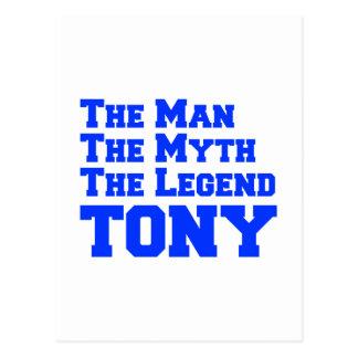 man-myth-legend-tony-fresh-blue.png postcard