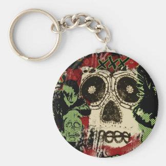 man n skull keychain