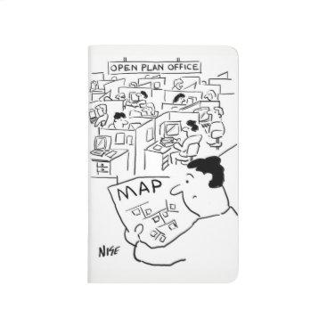 Professional Business Man Needs a Map for an Open Plan Office Journal