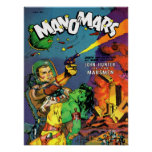 MAN O' MARS Cool Vintage Comic Book Cover Art Poster