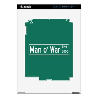 Man O' War Boulevard, Street Sign, Kentucky, US iPad 3 Decal