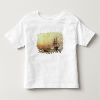 Man-o'-War firing a salute at sunset Toddler T-shirt