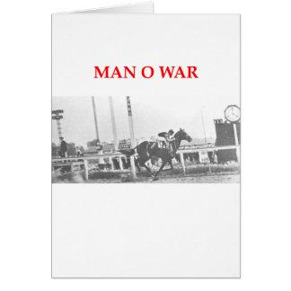 man o war greeting card