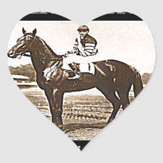 Man O' War Heart Sticker