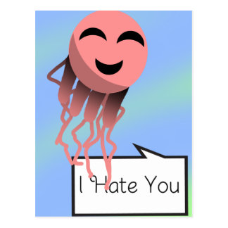 Man O War I Hate You Postcard