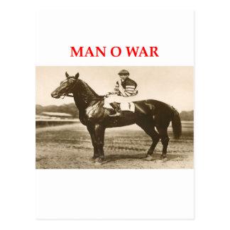 man o war postcard