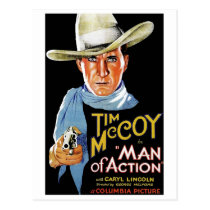 Man of Action 1933 Postcard