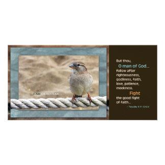 Man of God KJV Scripture Card Photo Card