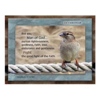 Man of God NIV Postcard