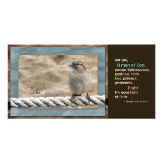 Man of God NKJV Scripture Card Photo Card