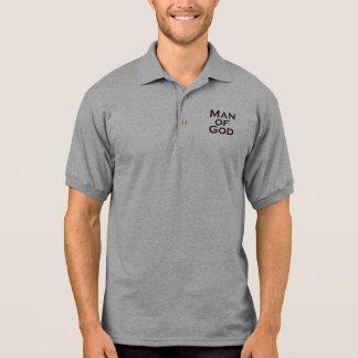Man of God - Square Polo Shirts