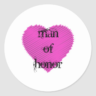 Man of Honor Classic Round Sticker