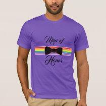 Man of Honor Gay Rainbow Wedding Shirt