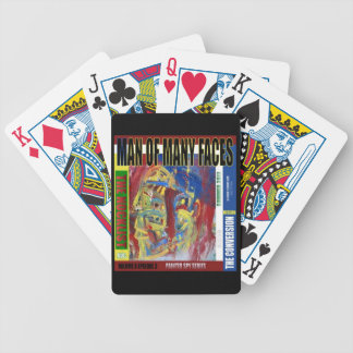 Man of Many Faces PRINT Bicycle Playing Cards