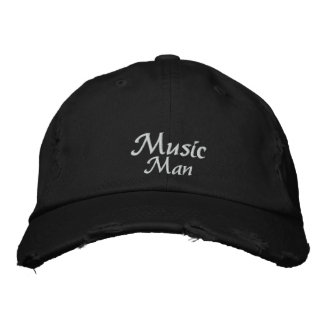Man of Music Embroidered Hat