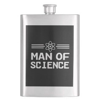 Man of Science Flask