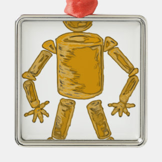 Man Of Shapes Metal Ornament