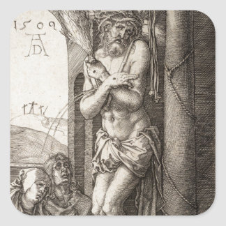 Man of Sorrows by Column by Durer Square Sticker