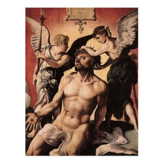 Man of Sorrows by Hans Memling Postcard