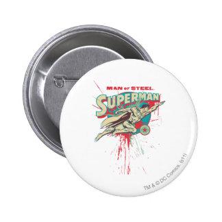 Man of Steel paint splatter Button