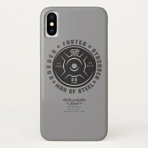 Man Of Steel   Unbreakable Dad iPhone X Case