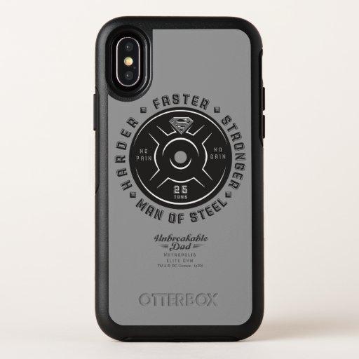 Man Of Steel   Unbreakable Dad OtterBox Symmetry iPhone X Case