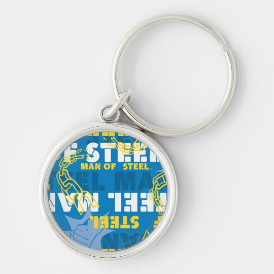 Man of Steel Yellow and Blue Keychain