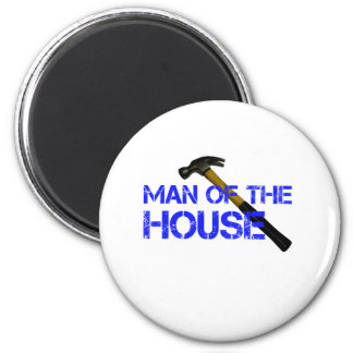 Man of the house 2 inch round magnet