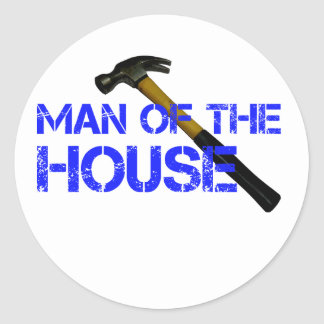 Man of the house classic round sticker