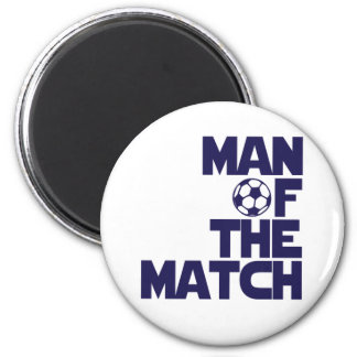 man of the match 2 inch round magnet