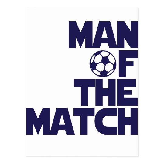 man of the match postcard