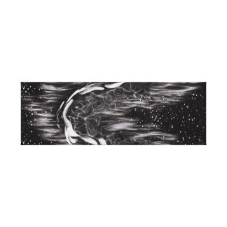 Man of the Night Black and White Canvas Print