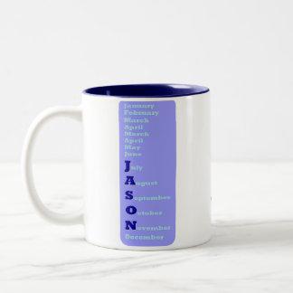 Man of the Year - Jason Two-Tone Coffee Mug