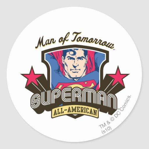 Man of Tomorrow Classic Round Sticker
