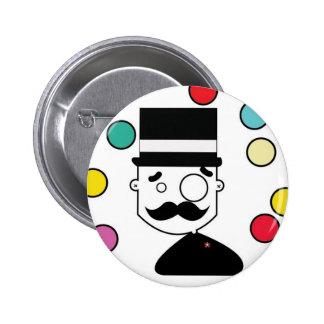 Man of Top hat Pinback Button