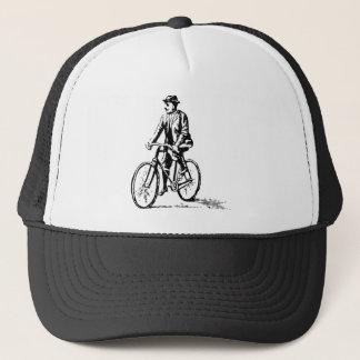 Man on a Bike - Black Trucker Hat