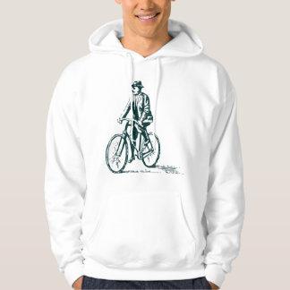 Man on a Bike - Dark Green Hoodie