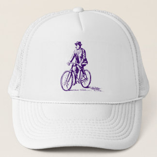 Man on a Bike - Deep Purple Trucker Hat