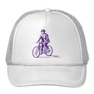 Man on a Bike - Deep Purple Trucker Hat