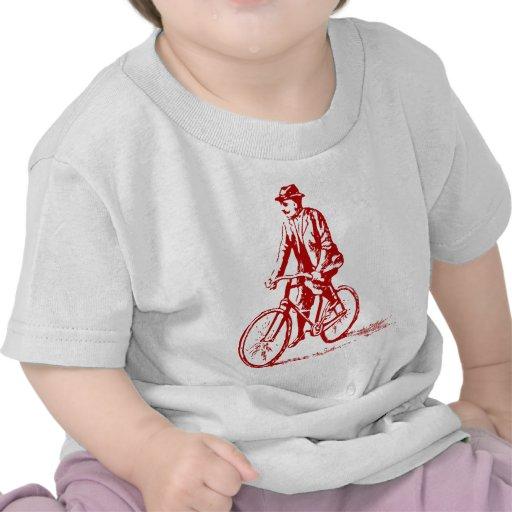 Man on a Bike - Ruby Red Shirt