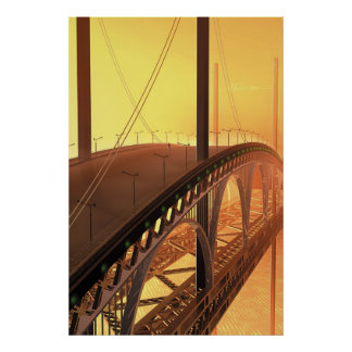 Man on a bridge poster