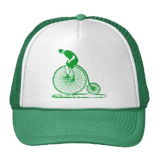 Man on a Penny Farthing - Grass Green Trucker Hat