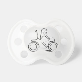 Man on a scooter pacifier