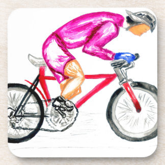 Man on Bicycle Sketch Coaster