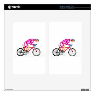Man on Bicycle Sketch Kindle Fire Skins